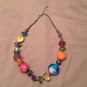 Necklace with many colors